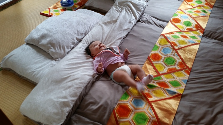 Japanese style beds really suit babies.