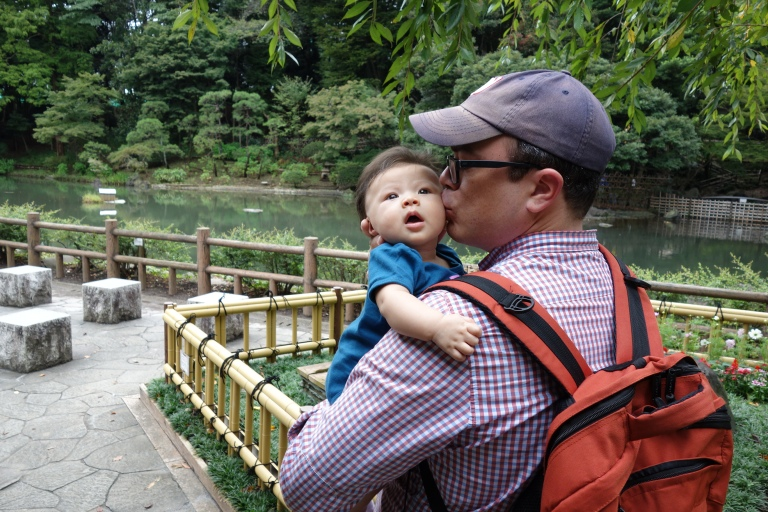 Checking out turtles and ducks with Baba.