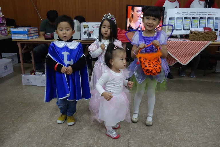 Halloween in Seoul at Eva's school, which throws an annual Harvest Market Day event.